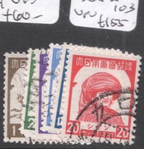 Burma Japanese Occupation SG J98-103 VFU (2dga)