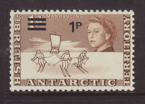 1971 Br Antarctic Terr 1p on 1d Unmounted Mint SG25
