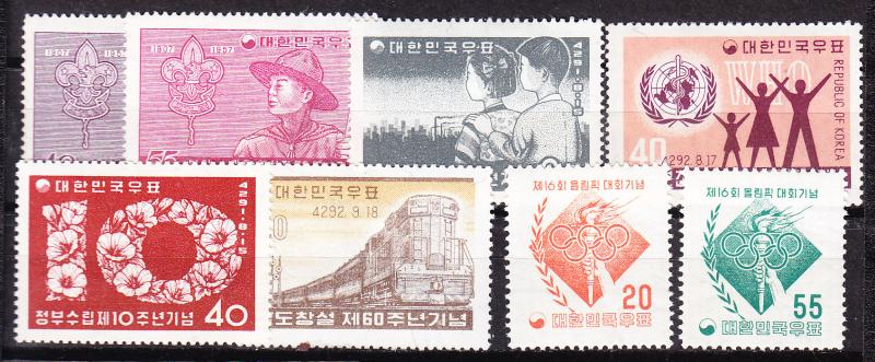 South Korea Mini-collection Train Olympics WHO Boy Scouts