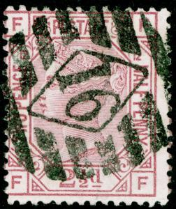SG141, 2½d rosy mauve PLATE 12, USED. Cat £60. FF