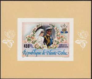 Upper Volta - 1983 - as Scott #C276 - MNH SS - Royal Wedding