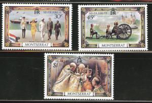 Montserrat Scott 363-5 1977 QE2 reign stamp set CV$1.50