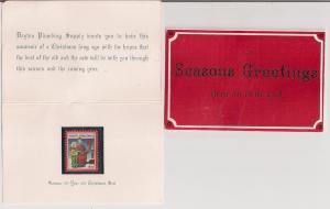 Dayton Plumber 1982 Christmas Gift w 1932 Xmas Seal pls read