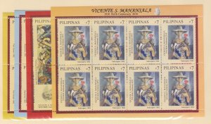 Philippines: Sc #3307-3312, S/S, Vicente Manansala Paintings, MNH (Sc18908)