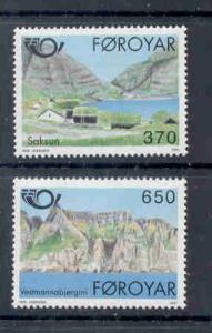 Faroe Islands Sc 226-7 1991 Nordic Co-op stamp set mint NH