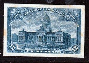 Argentina 1910 12c Blue Plate Proof . Scott 167, SG 373