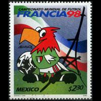 MEXICO 1998 - Scott# 2068 W.Cup Soccer 2.3p NH