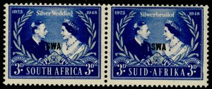 SOUTH AFRICA SG137, 3d blue & silver, VLH MINT. RSW