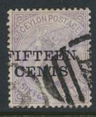Ceylon  SG 186 Used Opt Surcharge
