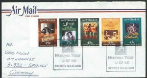 AUSTRALIA 1995 cover to Germany - nice franking - Sydney Pictorial pmk.....14711