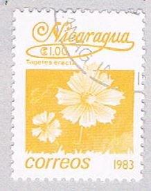 Nicaragua Flower yellow 100 - pickastamp (AP108709)