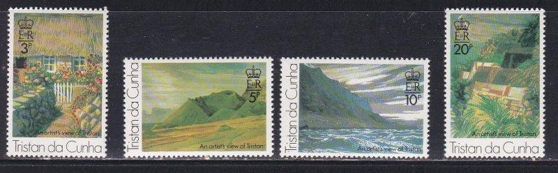 Tristan da Cunha MNH 209-12 Landscape Paintings