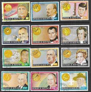 Burkina Faso #311-322 Famos Men & their Zodiax sign set complete (CTO) CV $4.25