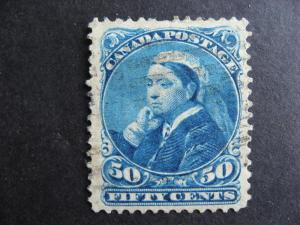 CANADA Sc 47 U very presentable but a thin,pulled perf, check the pictures!