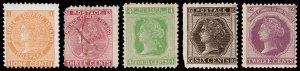 Prince Edward Island Scott 11, 13-16 (1872) Mint/Used H F-VF, CV $56.00 B
