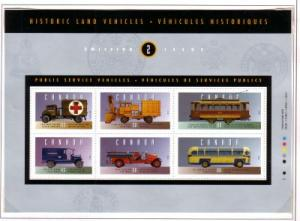 Canada Sc 1527 1994 Historic Vehicles stamp sheet mint NH