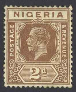 Nigeria Sc# 22 MH 1927 2p red brown King George VI