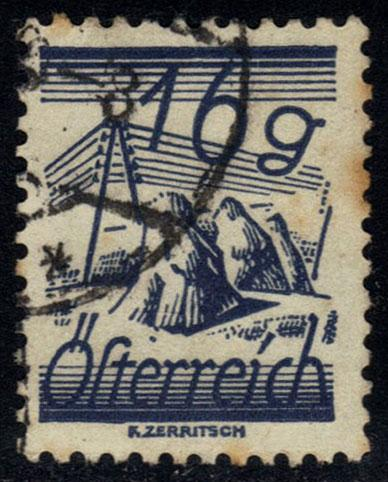 Austria #314 Fields and Telegraph Wires; used (0.25)