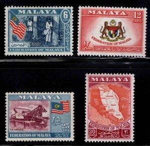 MALAYA Federation stamp set Scott 80-83 MH*