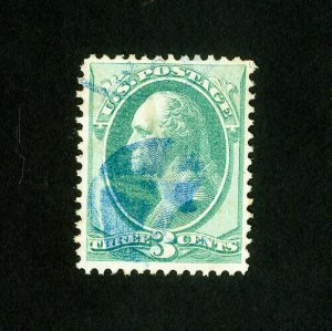 US Stamps # 136 XF Used blue cancel