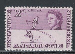 British Antarctic Territory 1963 Skiers 2p Scott # 4 MH
