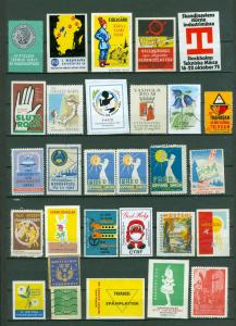 Sweden. Poster Stamp, Lot 28 Diff.1940-1980. Business,Industry,Defence,Health.