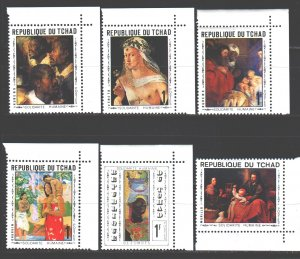 Chad. 1969. 264-69. Paintings painting. MNH.