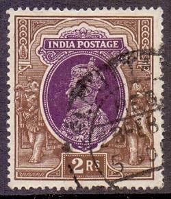 India 1937 used   King George VI  2r.      #