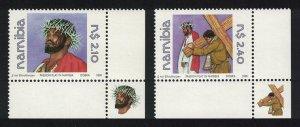 Namibia Jesus Christ Easter Passion Play 2v Corners SG#865-866