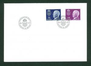 Sweden.  Fdc 1973.  King Gustaf VI Adolf  1882-1973.  Engraver Cz. Slania