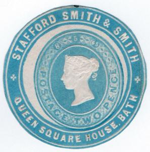 (I.B) QV Postal : Newspaper Wrapper - Stafford Smith 2d (Advertising Ring)