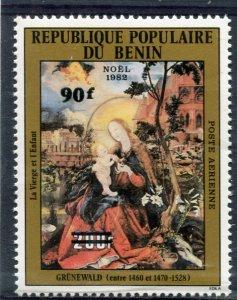 Benin 1984 MATTHIAS GRUNEWALD Chritmas Ovpt.new value Perforated MintNH