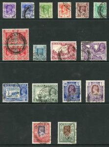 Burma SG18b/33 Set of 16 Fine Used