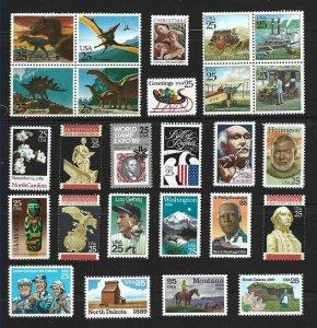 1989 Commemoratives Year Set (2347//2437) 26 var., MNH, (2)