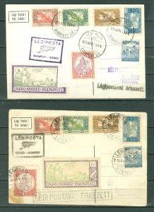 BUDAPEST-SZEGED-BUAP 1925... 1st FLIGHTS on CARDS...NICE CACHETS
