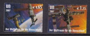 United Nations Vienna  #409-410    MNH  2007 space station  astronaut