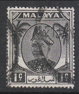 Malaya Selangor 1949 Sc 80 1c Used