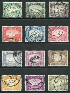 Aden SG1/12 1937 Dhow set to 10r Fine Used