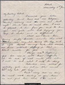 Grace & Robert - Letter #7 - 1944 (Jan) - Two Pages