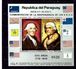 Paraguay 1625A MNH 1975 U.S. Bicentennial S/S