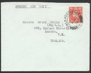 GB FORCES IN LYBIA 1952 cover FPO cancel - Devonshire Regt at Derna........11980