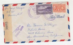 PANAMA, 1945 Censored Airmail cover to California.