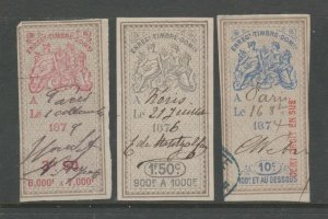 France and Colonies revenue Fiscal stamp 11-18-20