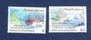 NORFOLK ISLAND - 508-509  - VF MNH - Ship Wreck HMS Pandora - 1991