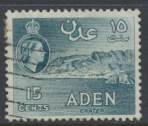 Aden  SG 52  Used   SC#  50  Crater  see scan / details