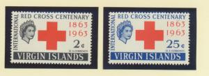 British Virgin Islands Scott #141 To 142, Mint Never Hinged MNH, Two Stamp Re...