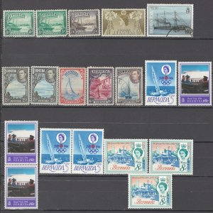 COLLECTION LOT OF # 927 BERMUDA 19 STAMPS 1936+ CLEARANCE CV + $22