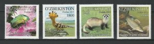 Uzbekistan 2016 Fauna, Animals, Birds, Insects 4 MNH stamps