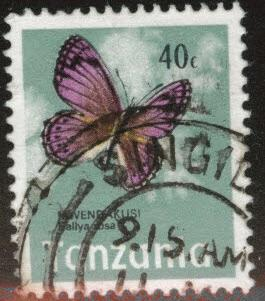 Tanzania Scott 40 Used Butterfly stamp