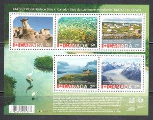 2015 UNESCO World Heritage Park Sites ERROR Souvenir Sheet MINT NH